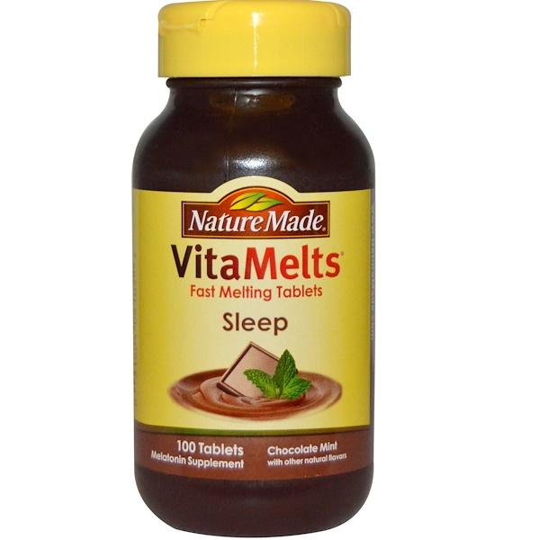 Nature Made, VitaMelts, Sleep, Chocolate Mint, 100 Tablets