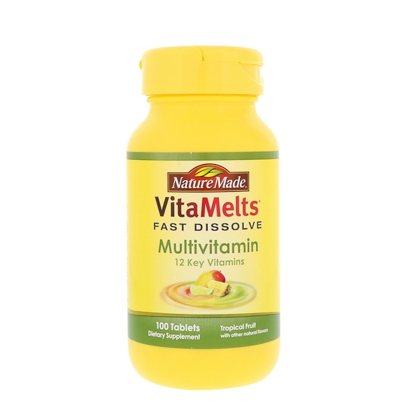 Nature Made, VitaMelts, Multivitamin, Tropical Fruit, 100 Tablets