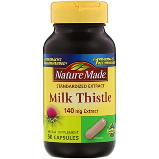 Nature Made, Milk Thistle, 140 mg Extract, 50 Capsules