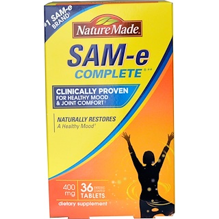 Nature Made, Sam- E (S-Adenosyl-L-Methionine) Complete, 400 mg, 36 Tablets