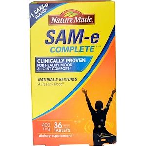 Nature Made, Sam- E (S-Adenosyl-L-Methionine) Complete, 400 мг, 36 таблеток