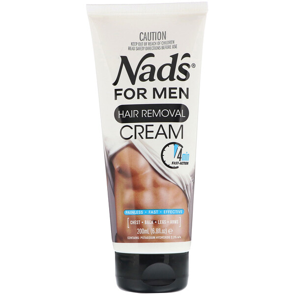 Nad's, Hair Removal Cream, For Men, 6.8 fl oz (200 ml)
