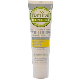 The Natural Dentist, Healthy Teeth & Gums Whitening Fluoride Toothpaste, Peppermint Twist, 5.0 oz (142 g)