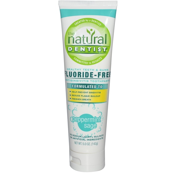 The Natural Dentist, Fluoride-Free Antigingivitis Toothpaste, Peppermint Sage, 5.0 oz (142 g)