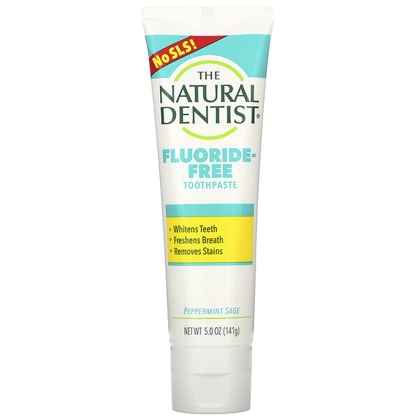 The Natural Dentist, Fluoride-Free Toothpaste, Peppermint Sage, 5.0 oz (141 g)