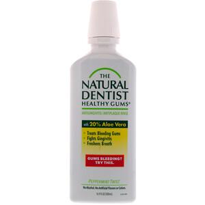 Натурал Дантист, Healthy Gums, Antigingivitis / Antiplaque Rinse, Peppermint Twist, 16.9 fl oz (500 ml) отзывы покупателей