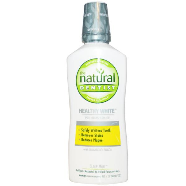 Natural Dentist, Healthy White, Pre-Brush Rinse, Clean Mint, 16.9 fl oz (500 ml)