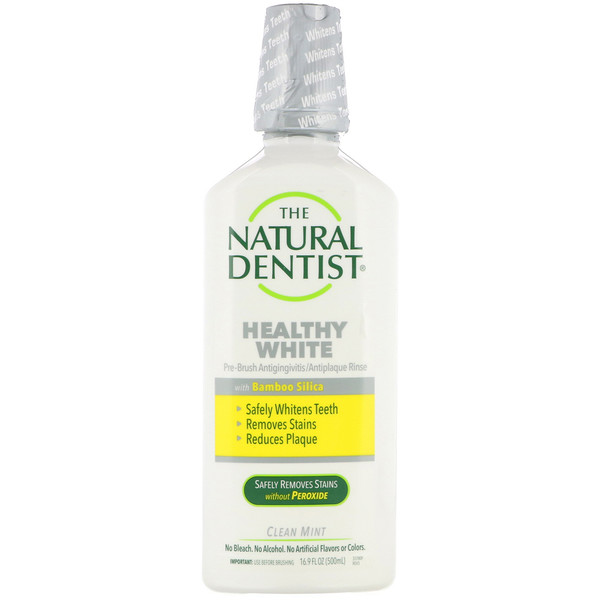 The Natural Dentist, Healthy White, Pre-Brush Antigingivitis/Antiplaque Rinse, Clean Mint, 16.9 fl oz (500 ml)