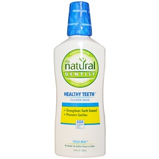 The Natural Dentist, Healthy Teeth Fluoride Rinse, Fresh Mint, 16.9 fl oz (500 ml)