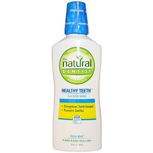 Натурал Дантист, Healthy Teeth Fluoride Rinse, Fresh Mint, 16.9 fl oz (500 ml) отзывы покупателей