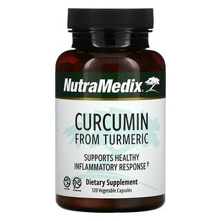 NutraMedix, 來自薑黃的薑黃素,支持健康的炎性反應,120 粒素食膠囊
