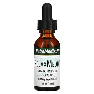 NutraMedix, RelaxMedix,放松/睡眠支持,1 液量盎司(30 毫升)