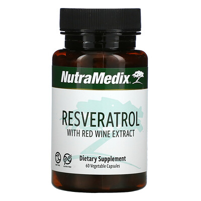 NutraMedix Resveratrol with Red Wine Extract, 60 Vegetable Capsules