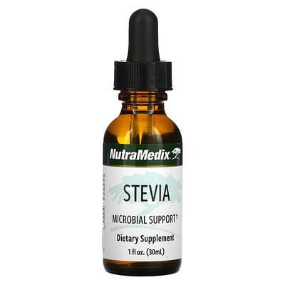 Купить NutraMedix Stevia, Microbial Support, 1 fl oz (30 ml)