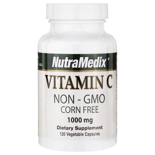 NutraMedix, Vitamin C, 1,000 mg, 120 Veggie Caps (Discontinued Item)