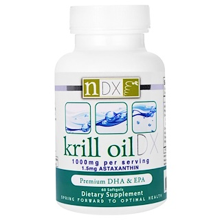 Natural Dynamix, Krill Oil DX, 1000 mg, 60 Softgels