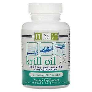Натурал Динамикс, Krill Oil DX, 1000 mg, 60 Softgels отзывы
