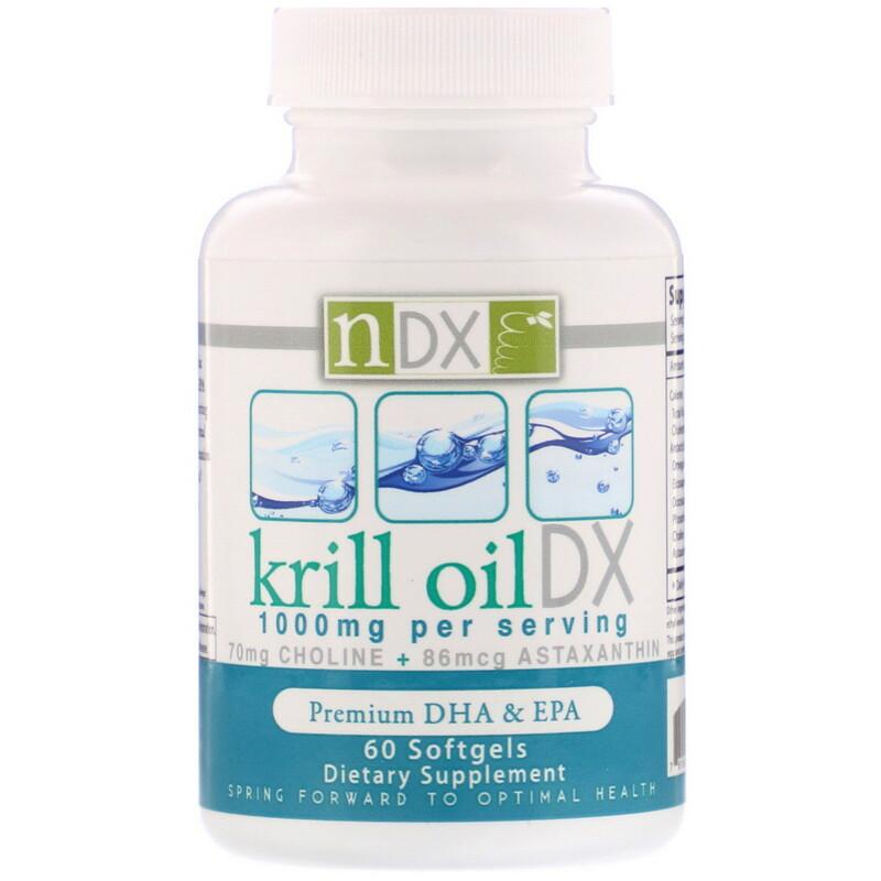 Krill Oil DX, 1000 mg, 60 Softgels