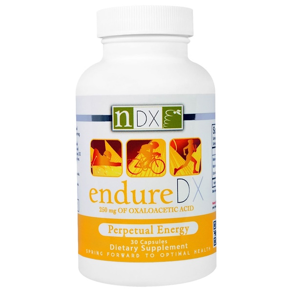 Natural Dynamix (NDX), Endure DX, Perpetual Energy, 30 Capsules