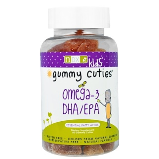 Natural Dynamix, Gummy Cuties, Kids Omega-3 DHA/EPA, 60 Gummy Cuties