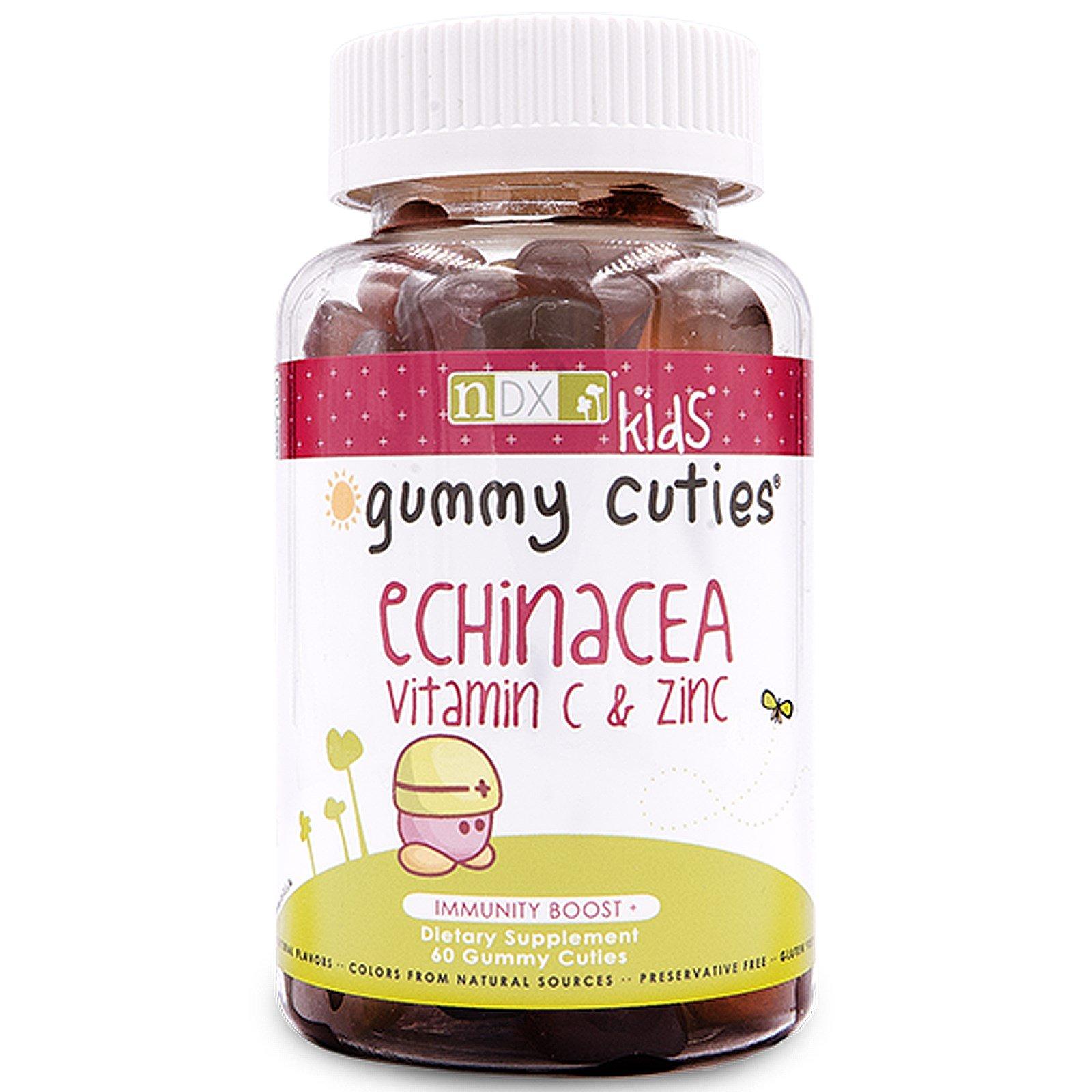 """Natural Dynamix, """"Жевательные милашки"""" с эхинацеей, витамином C и цинком, для детей, 60 штук"""