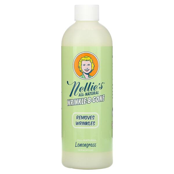Nellie's, Wrinkle-B-Gone, Removes Wrinkles, Lemongrass, 16 fl oz (474 ml)