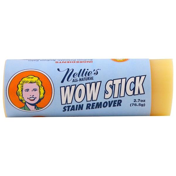Nellie's All-Natural, Wow Stick, пятновыводитель, 76,5 г (2,7 унции)