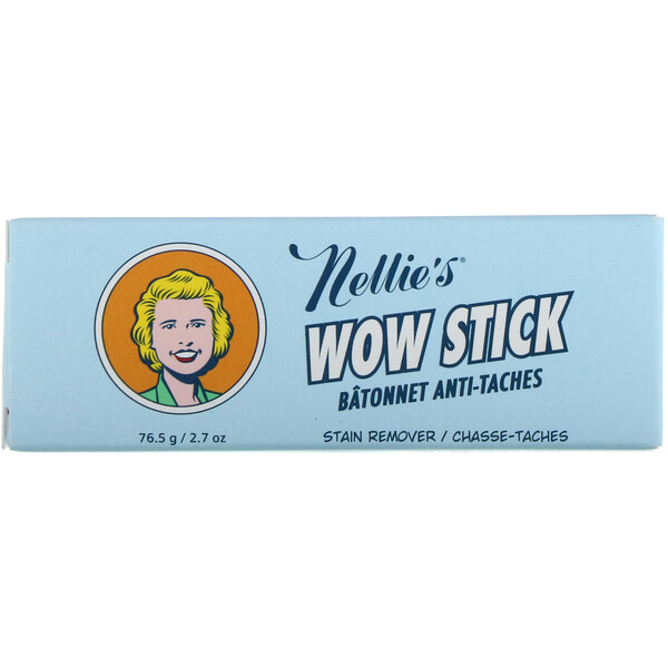 Nellie's, Wow Stick, пятновыводитель, 76,5 г (2,7 унции)