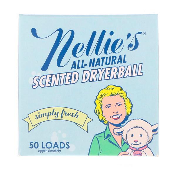 Nellie's All-Natural, 香り付きドライヤーボール、フレッシュ、ドライヤーボール1個