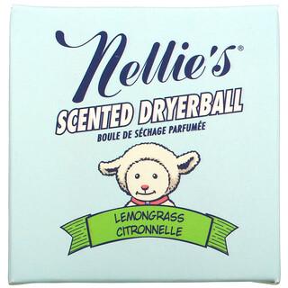 Nellie's, Scented Wool Dryerball, Lemongrass, 50 Loads
