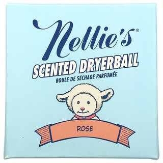 Nellie's, Scented Wool Dryerball, Rose, 50 Loads