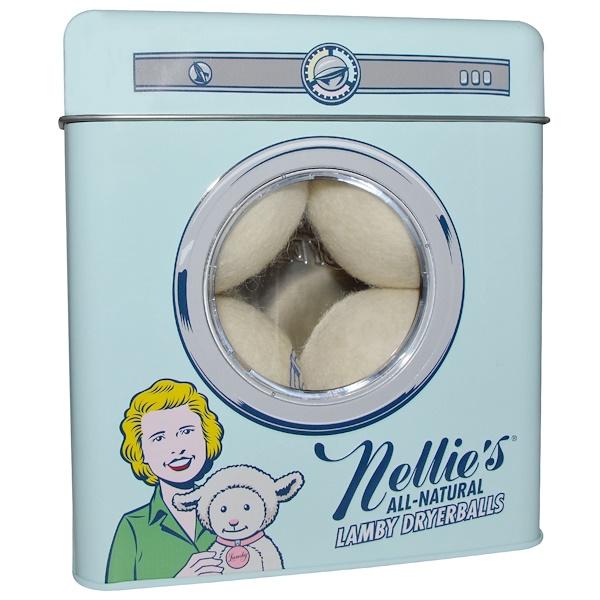 Nellie's All-Natural, ラミー ドライヤーボール、4パック