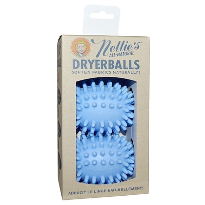 Nellie's All-Natural Dryerballs, Blue, 2 Pack