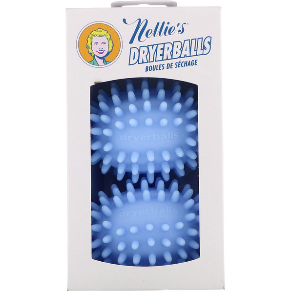 Nellie's, Dryerballs, Blue, 2 Pack