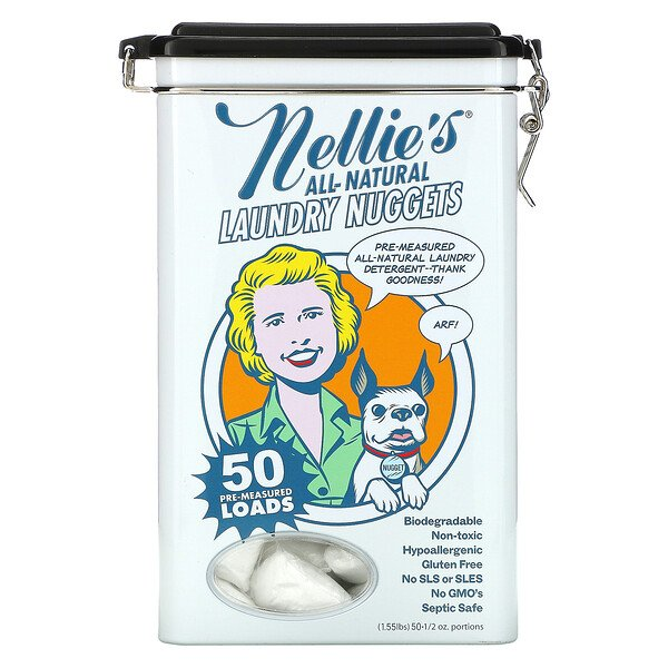 Nellie's, All-Natural, Laundry Nuggets, 50 Loads, 1/2 oz Portions