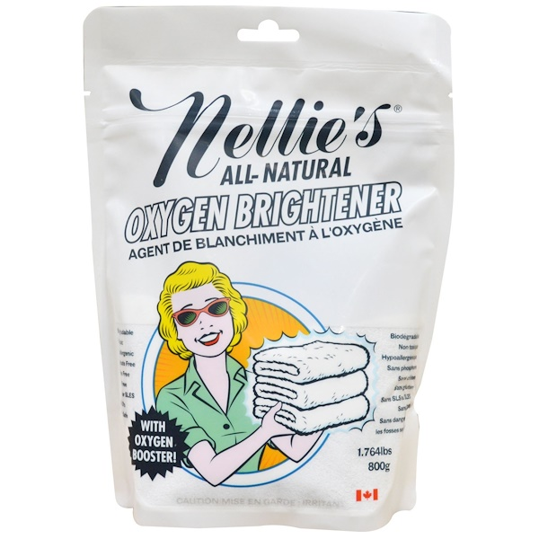 Nellie's All-Natural, Oxygen Brightener, 1.764 lbs (800 g)