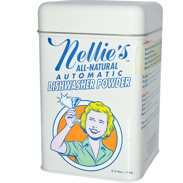 Nellie's All-Natural, Automatic Dishwasher Powder, 2.2 lbs (1 kg) (Discontinued Item)
