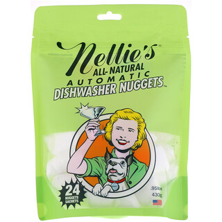 Nellie's, All-Natural, Automatic Dishwasher Nuggets, 24 Nuggets, .95 lbs (430 g)