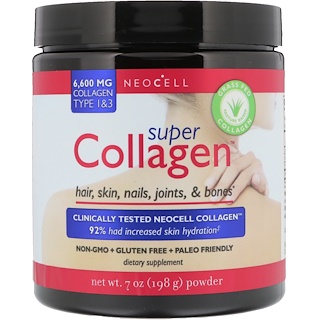 Neocell, Super Collagen, Type 1 & 3, 6,000 mg, 7 oz (198 g)