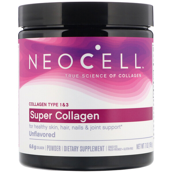 Super Collagen, Unflavored, 7 oz (198 g)