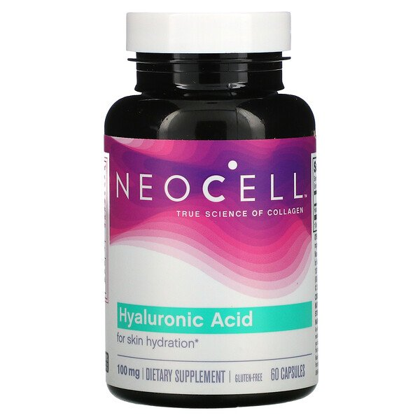 Neocell, Гиалуроновая кислота, 100мг, 60капсул