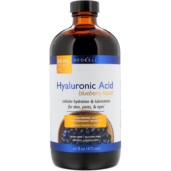Neocell, Hyaluronic Acid, Blueberry Liquid, 16 fl oz (473 ml)
