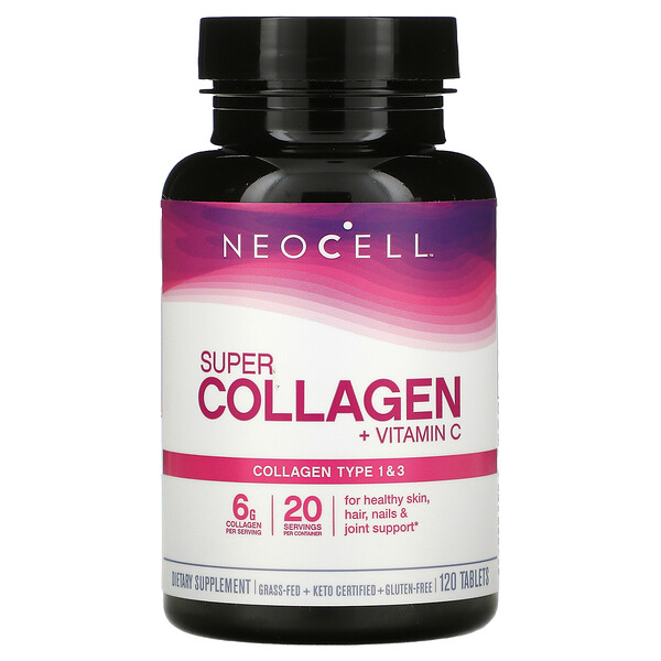 Super Collagen + Vitamin C, 120 Tablets
