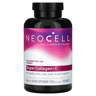 Купить Neocell SuperCollagen+C, добавка с коллагеном и витаминомC, 250таблеток