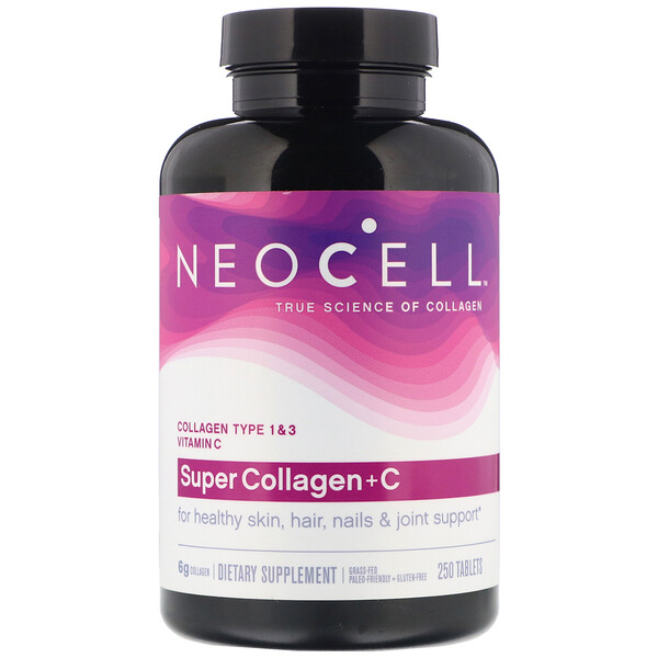 Neocell, Super Collagen + سي, 250 قرص
