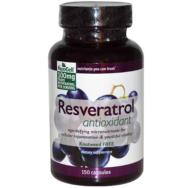 Neocell, Антиоксидант ресвератрол, 150 капсул