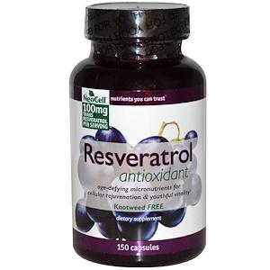 Нэосэлл, Resveratrol Antioxidant, 150 Capsules отзывы покупателей