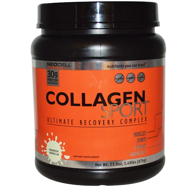 Neocell, Collagen Sport, Ultimate Recovery Complex, French Vanilla, 23.8 oz (675 g) (Discontinued Item)