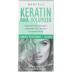 Neocell, Keratin Hair Volumizer, 60 كبسولة