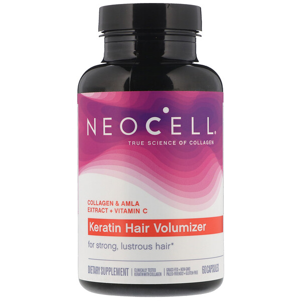 Neocell,  Keratin Hair Volumizer, ‏60 כמוסות